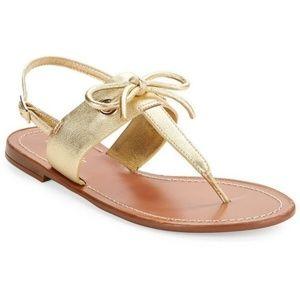 Kate Spade Carolina Sandals gold size 6